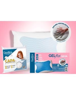 Kit 1 Travesseiro GELFlex NASA + 1 Capa Impermeável