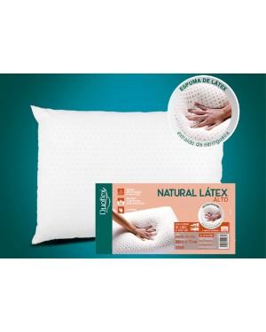 Travesseiro Natural Látex ALTO - Capa 100% algodão 200 fios - 50 x 70 cm - Duoflex